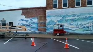 vermillion mural